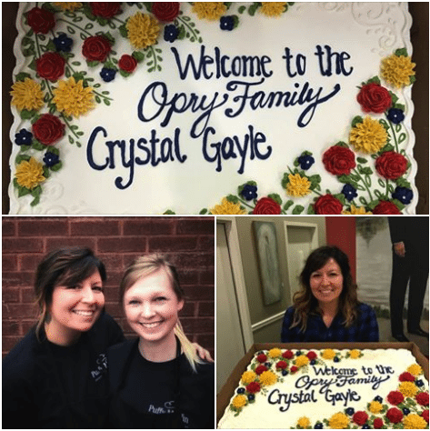 Grateful To Create Crystal Gayle's 25 Year Opry Induction Cake