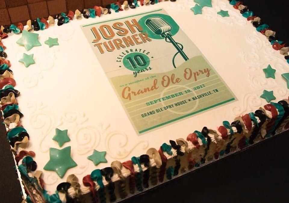 Puffy Muffin Creates Josh Turner's 10 Year Grand Ole Opry Anniversary Cake